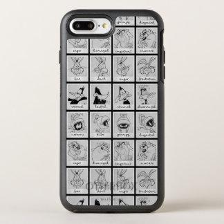 Coque OtterBox Symmetry iPhone 8 Plus/7 Plus Diagramme LOONEY d'émotion de caractère de TUNES™