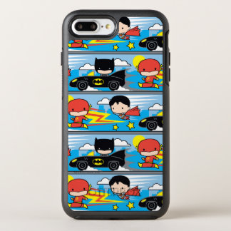 Coque OtterBox Symmetry iPhone 8 Plus/7 Plus Éclair, Superman, et Batman de Chibi emballant le