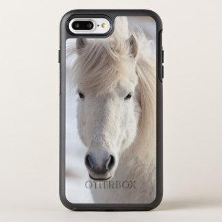Coque OtterBox Symmetry iPhone 8 Plus/7 Plus Fermez-vous d'un cheval islandais blanc