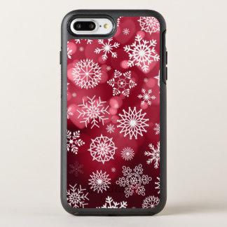 Coque OtterBox Symmetry iPhone 8 Plus/7 Plus Flocons de neige sur un cas de téléphone de
