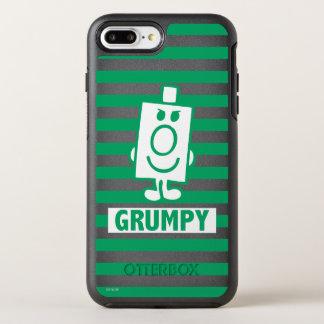 Coque OtterBox Symmetry iPhone 8 Plus/7 Plus Grimace malfaisante de M. Grumpy | et rayures