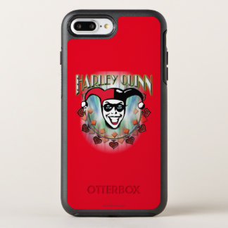 Coque OtterBox Symmetry iPhone 8 Plus/7 Plus Harley Quinn - visage et logo