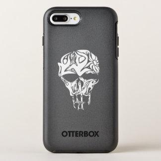 Coque OtterBox Symmetry iPhone 8 Plus/7 Plus Illustration abstraite de crâne, personnes formées