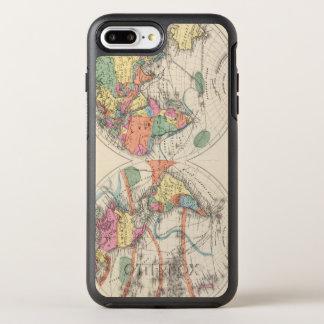 Coque OtterBox Symmetry iPhone 8 Plus/7 Plus La carte d'atlas du monde avec des courants et des