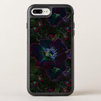 Coque OtterBox Symmetry iPhone 8 Plus/7 Plus La roseraie électrique au néon fleurit le résumé