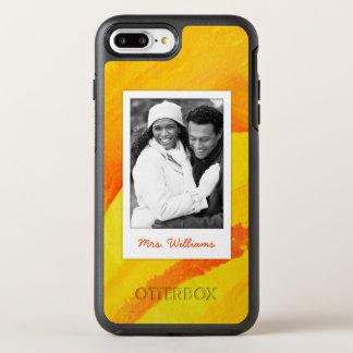 Coque OtterBox Symmetry iPhone 8 Plus/7 Plus L'aquarelle jaune sur le papier   ajoutent la