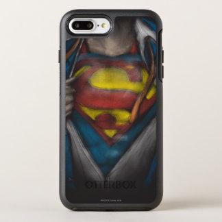 Coque OtterBox Symmetry iPhone 8 Plus/7 Plus Le coffre de Superman   indiquent le croquis