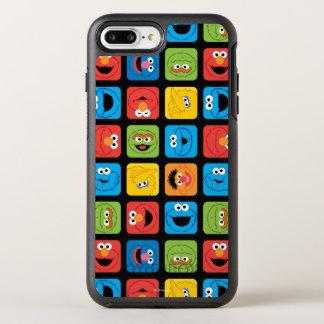 Coque OtterBox Symmetry iPhone 8 Plus/7 Plus Le Sesame Street a cubé le motif de visages