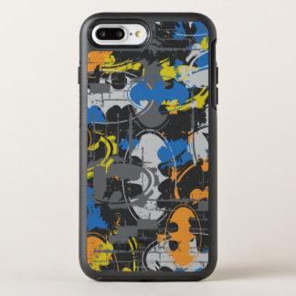 Coque OtterBox Symmetry iPhone 8 Plus/7 Plus Légendes urbaines de Batman - bleu grunge/orange