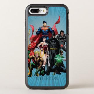 Coque OtterBox Symmetry iPhone 8 Plus/7 Plus Ligue de justice - groupe 2
