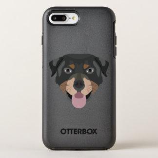 Coque OtterBox Symmetry iPhone 8 Plus/7 Plus L'illustration poursuit le rottweiler de visage