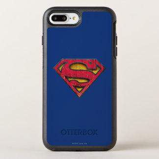 Coque OtterBox Symmetry iPhone 8 Plus/7 Plus Logo affligé par   de S-Bouclier de Superman