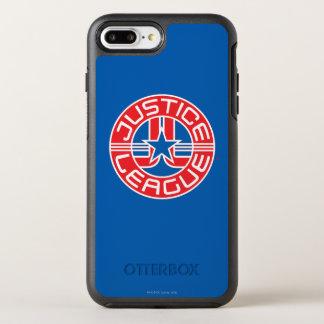 Coque OtterBox Symmetry iPhone 8 Plus/7 Plus Logo de ligue de justice