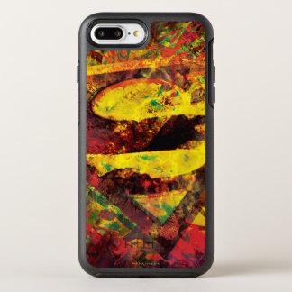 Coque OtterBox Symmetry iPhone 8 Plus/7 Plus Logo grunge du S-Bouclier | de Superman