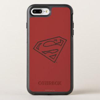 Coque OtterBox Symmetry iPhone 8 Plus/7 Plus Logo grunge latéral du S-Bouclier | de Superman