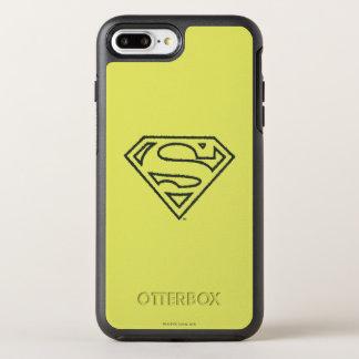 Coque OtterBox Symmetry iPhone 8 Plus/7 Plus Logo noir grunge 2 d'ensemble du S-Bouclier   de