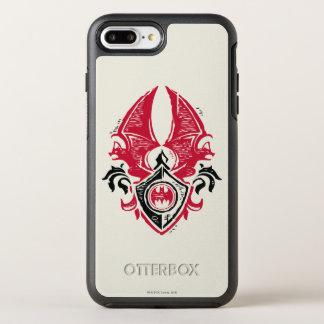 Coque OtterBox Symmetry iPhone 8 Plus/7 Plus Logo noir rouge de crête de timbre de batte du
