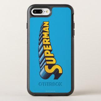 Coque OtterBox Symmetry iPhone 8 Plus/7 Plus Logo nommé classique de Superman |