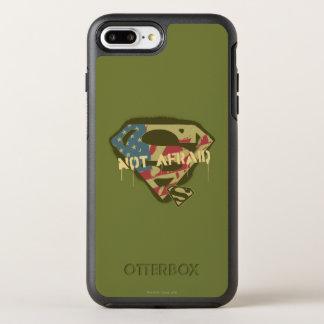 Coque OtterBox Symmetry iPhone 8 Plus/7 Plus Logo non effrayé du S-Bouclier   de Superman