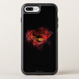 Coque OtterBox Symmetry iPhone 8 Plus/7 Plus Logo peint par   de S-Bouclier de Superman