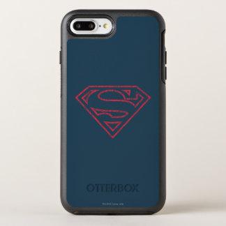 Coque OtterBox Symmetry iPhone 8 Plus/7 Plus Logo rouge d'ensemble du S-Bouclier   de Superman