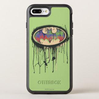 Coque OtterBox Symmetry iPhone 8 Plus/7 Plus Logo rouge pourpre vert 2 du symbole | de Batman