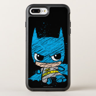 Coque OtterBox Symmetry iPhone 8 Plus/7 Plus Mini croquis de Batman