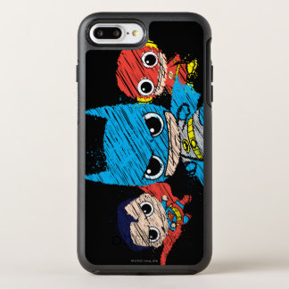 Coque OtterBox Symmetry iPhone 8 Plus/7 Plus Mini croquis de ligue de justice