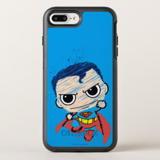 Coque OtterBox Symmetry iPhone 8 Plus/7 Plus Mini croquis de Superman - vol