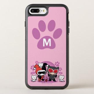Coque OtterBox Symmetry iPhone 8 Plus/7 Plus Monogramme Chibi Harley Quinn et Catwoman avec des