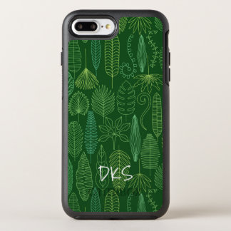 Coque OtterBox Symmetry iPhone 8 Plus/7 Plus Monogramme tropical du feuille | d'aquarelle