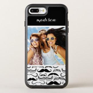 Coque OtterBox Symmetry iPhone 8 Plus/7 Plus Motif 2 de photo et de moustache de nom