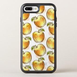 Coque OtterBox Symmetry iPhone 8 Plus/7 Plus Motif avec la pomme jaune