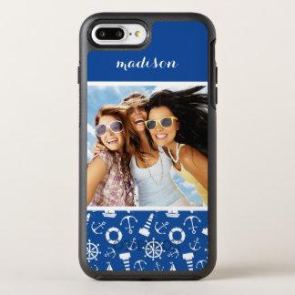 Coque OtterBox Symmetry iPhone 8 Plus/7 Plus Motif bleu   de mer votre photo et nom