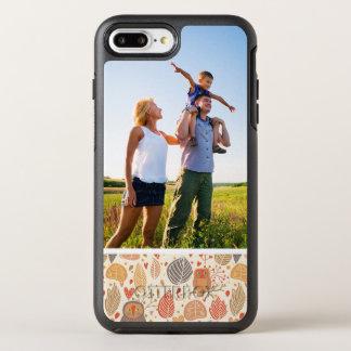 Coque OtterBox Symmetry iPhone 8 Plus/7 Plus Motif d'automne de photo. Hiboux dans la forêt