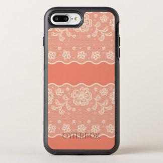 Coque OtterBox Symmetry iPhone 8 Plus/7 Plus Motif de dentelle, cru 4 de fleur