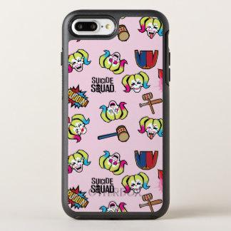 Coque OtterBox Symmetry iPhone 8 Plus/7 Plus Motif du peloton | Harley Quinn Emoji de suicide