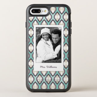 Coque OtterBox Symmetry iPhone 8 Plus/7 Plus Motif marocain de photo et de turquoise de nom