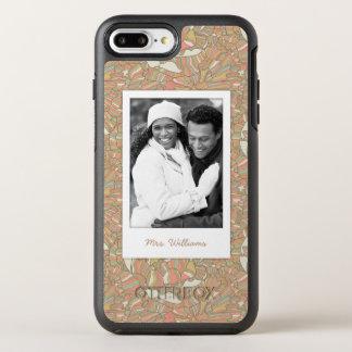 Coque OtterBox Symmetry iPhone 8 Plus/7 Plus Motif romantique de photo et de pivoine de nom