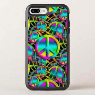 Coque OtterBox Symmetry iPhone 8 Plus/7 Plus Motif sans couture de PAIX colorée + vos idées
