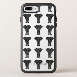 Coque OtterBox Symmetry iPhone 8 Plus/7 Plus Motif tribal d'éléphant de cas d'OtterBox