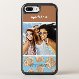 Coque OtterBox Symmetry iPhone 8 Plus/7 Plus Motif vintage | de coquillage votre photo et nom