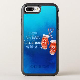 Coque OtterBox Symmetry iPhone 8 Plus/7 Plus Noël élégant dans le cas de téléphone du coeur |