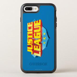 Coque OtterBox Symmetry iPhone 8 Plus/7 Plus Nom de ligue de justice et logo de bouclier