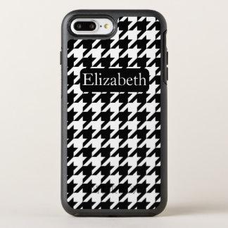 Coque OtterBox Symmetry iPhone 8 Plus/7 Plus Nom noir et blanc de pied-de-poule intemporel