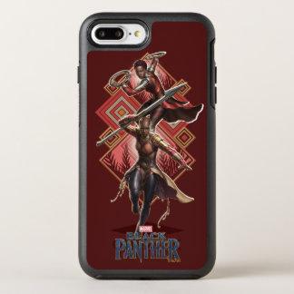 Coque OtterBox Symmetry iPhone 8 Plus/7 Plus Panthère noire | Nakia et graphique d'Okoye