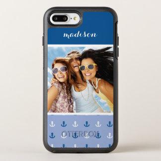 Coque OtterBox Symmetry iPhone 8 Plus/7 Plus Petit motif mignon   d'ancre votre photo et nom