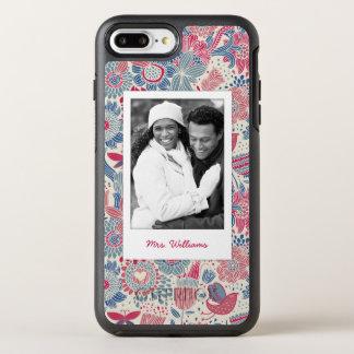 Coque OtterBox Symmetry iPhone 8 Plus/7 Plus Photo et conception florale d'oiseau et de