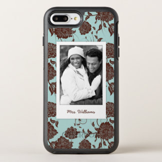 Coque OtterBox Symmetry iPhone 8 Plus/7 Plus Photo et motif floral 3 de nom