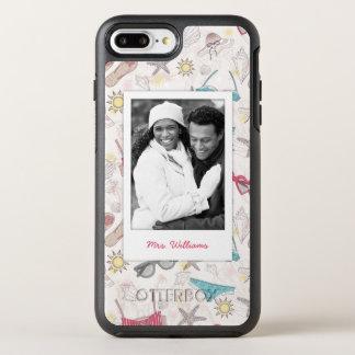 Coque OtterBox Symmetry iPhone 8 Plus/7 Plus Photo et motif mignon d'abrégé sur été de nom